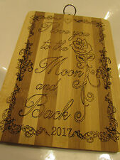 Fathers Day Gift Personalised Bamboo Chopping Board Wedding Anniversary Birthday