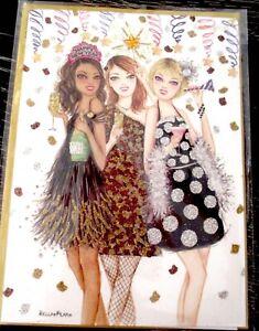 Papyrus Bella Pilar Girlfriends NEW YEAR'S Greeting Card SUPER RARE