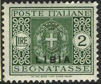 Italy Libia - Tax Sassone n.21 cv 480$ Super Centered  MNH**