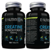 CREATINE MONOHYDRATE BUILD STRENGTH & MUSCLE SIZE 2000mg PER SERVING 120 TABLETS