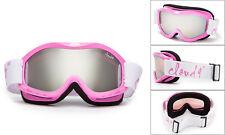 Girls Pink Snow Ski Goggles Snowboard Winter Cute Youth Kids Anti Fog Dual Lens