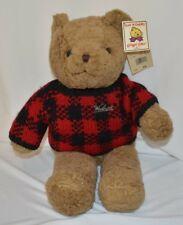Woolrich Teddy Bear Stuffed Animal Chrisha Playful Plush Vtg 80s Toy Tags
