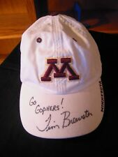 Michigan Golden Gophers Burgandy/White Cap Signed,Inscribed by Tim Brewster