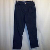 "Denim & Co. Straight Leg Jeans Women's Size 10P Petite Blue 27 1/2"" Inseam"