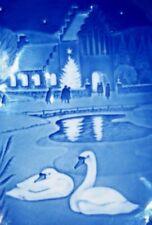 B&G Bing & Grondahl Denmark Blue Christmas In The Village 1974 Blue Plate Church