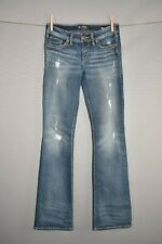 SILVER JEANS $89 Distressed Ripped Tuesday Low Rise Boot Jean Size 28