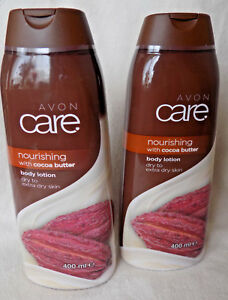 AVON CARE ~ 2 x COCOA BUTTER NOURISHING BODY LOTIONS 400ml each  ~ *BRAND NEW*