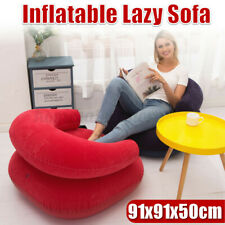 Indoor Inflatable Blow Up Dorm Room Lounge Air Chair Bean Bag Lazy Chair