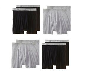 Fruit of the Loom Men's Tagless 8 Pack Black/Gray Boxer BriefUnderwear