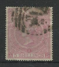 1867/83 Sg 126/7, 5/- Rose (AD) Plate 2, Average used.