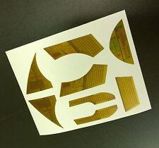 Él hombre-noche Stalker Edición limitada conjunto de reemplazo de la etiqueta Engomada de oro metálico