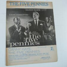 song sheet THE FIVE PENNIES, Danny Kaye, Louis Armstrong, 1959