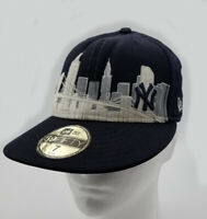 MLB NEW ERA 59FIFTY NEW YORK YANKEES SKYLINE Mens Fitted White Cap Hat size 7
