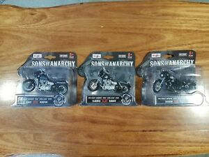 Maisto 1:18 Harley-Davidson Motorcycles 'Sons of Anarchy' set of 3