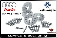 Audi VW 5x100 Or 5x112 Hub Centric Wheel Spacers 20mm Thick Fast Free Shipping