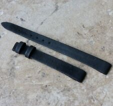 Charcoal color vintage 10mm Universal Geneve suede watch strap NOS 1960s/70s