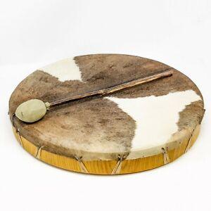 Shamandrum Ø 40 cm Rahmentrommel Rund Ziegenhaut Behaart Shaman Drum inkl. Stick