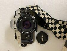 Nikon FG-20 SLR Spiegelreflexkamera Gehäuse Body, incl. 50mm Nikon Objektiv, Top
