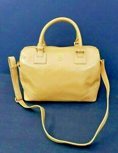 Tory Burch Peru-Brown Robinson Crossbody/Handlers Logo Tote Zip. Handbag Sz. XL