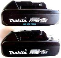 (2) NEW 18V GENUINE BL1820B-2 2.0 AH Makita Batteries 18 Volt For Drill, Saw LXT