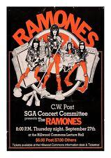Vintage Music Poster, Ramones Poster, Concert Poster, Gig Poster