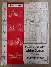"2000 Suzuki Motorcycle & Atv Wiring Diagram Manual ""Y"" Models 99923-54000"