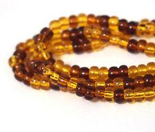 "Czech Glass Seed Beads Size 6/0 "" MIX TORTOISE "" Strands"