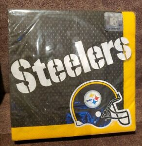 NFL PITTSBURG STEELERS 36 ct, 2-Ply NAPKINS FOOTBALL Party Supplies