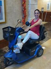 Used PRIDE VICTORY 10 Electric Mobility Scooter - 3 Wheels Blue