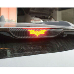 3sizes 3D Batman Carbon Fiber Sticker Brake Tail Light Decal DIY Car Accessories