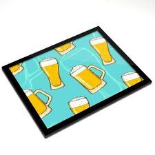Mantel Individual De Cristal 20x25 Cm-Vasos De Cerveza Pub Home Bar #2853