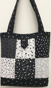 Make your own Quilted Patchwork Tote Bag Kit Monochrome