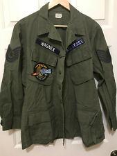 Original Vietnam Rip Stop Poplin 1969 OG 107 Slant Pocket Jacket 3rd Pattern Med