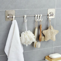 WALL MOUNTED 6 RACK KITCHEN STORAGE MOP ORGANIZER HOLDER BRUSH BROOM HANGER