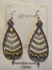 Brighton retired Baroque Scroll Swarovski chandelier drop earrings J16502 B4