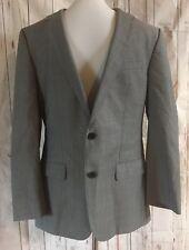 Hugo Boss Mens 38R Sport Coat REDA Super 110s Gray Jacket