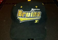 Boston Bruins Starter Snap Back  Hat / Cap. VINTAGE Rare Black 90s Rare