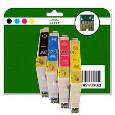 4 CARTUCCE INCHIOSTRO PER EPSON R240 R245 RX420 RX425 RX520 NON-OEM e551-4