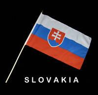 SLOVAKIA SLOVAKIAN Hand Waver Flag - 30x45cm