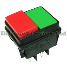 Doppio/Impermeabile Interruttore a Bottone 16 A 250 V 2 circ