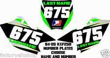 KXF250 Number Plate Backgrounds Graphics Decals Stickers MX Plastic kxf 250