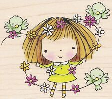 Flowers for MiMi  4144K  Penny Black Rubber Stamp w/m Free Shipping  NEW