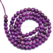 "15""- 4mm Purple Charoite Round Gemstone Loose Beads Art Craft DIY Supplies"