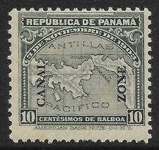 """STAMPS-CANAL ZONE. 1914. 10c Grey Overprinted """"canal zone"""". SG: 54. Mint Hin"""