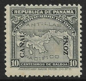 "Stamps-Canal Zone. 1914. 10c Grau Überdruckt"" Kanal Zone"" . Sg : 54. Mint Hin"