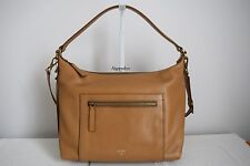 FOSSIL $349  Vickery Shoulder Bag Camel Tan Leather Crossbody Handbag BNWT
