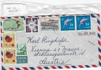 Japan to austria 1961 Stamps Cover Ref 8542
