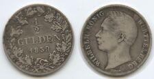G6912 - Württemberg 1/2 Gulden 1839 KM#573 Silber Wilhelm I. 1816-1864