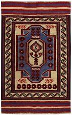 3995 # Handmade Anatolian Turkish Oriental Saghari Kelim 100% Wool 134 x 86 cm