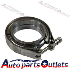 "2.5"" V-Band Flange & Clamp Kit for Turbo Exhaust Downpipes Stainless Steel"
